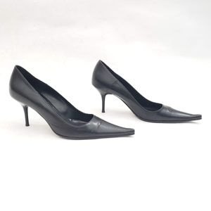 🖤🤍Savinelli Pointy toe leather heels - Size 36